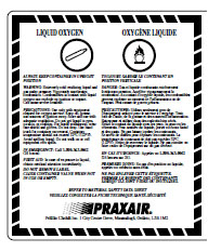 MSDS label example